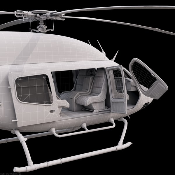 bell 429 helicopter interior 3d 3ds - Bell 429 Red... by Galva858