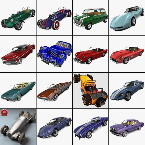3d retro cars 21