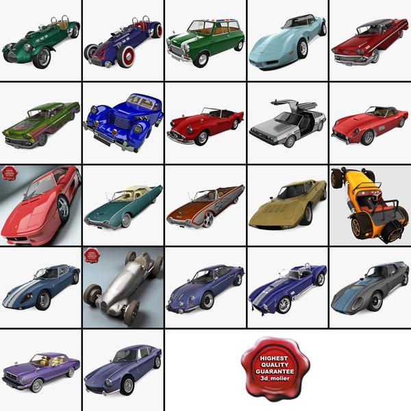 3d retro cars 22
