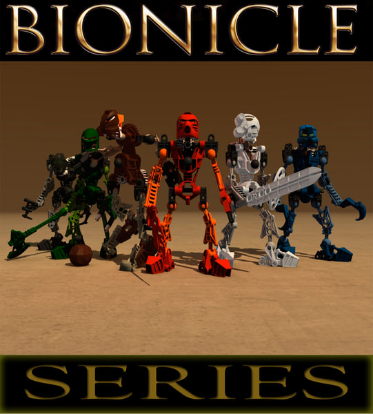 lego bionicle robot 3d model