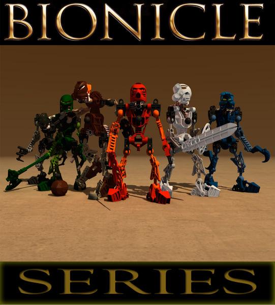 lego bionicle robot 3d lwo