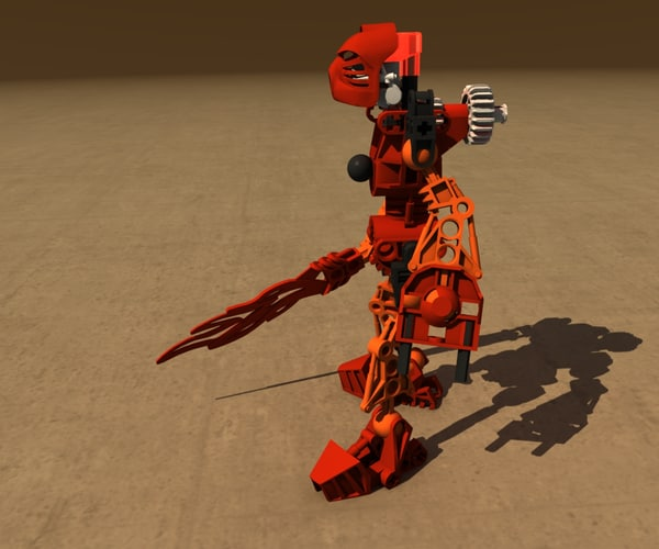 lego bionicle robot 3d model - Lego Bionicle Robot Collection... by Blendem