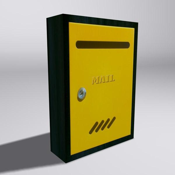 3d mailbox mail box model