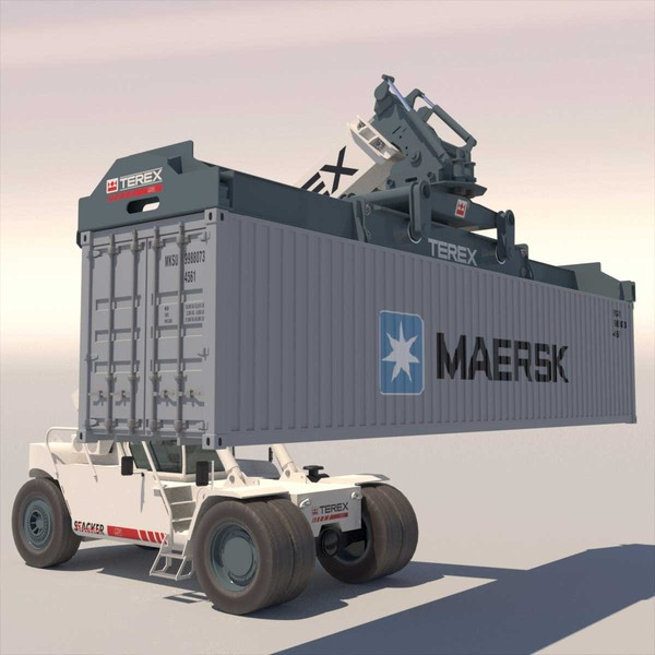 superstacker terex tfc 45 3d model - Super stacker TEREX TFC 45... by ArqArt3D