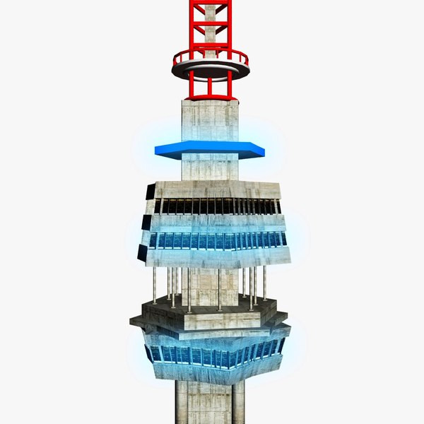 3d model of telecommunication tower - Telecommunication Tower... by 3Dmanak