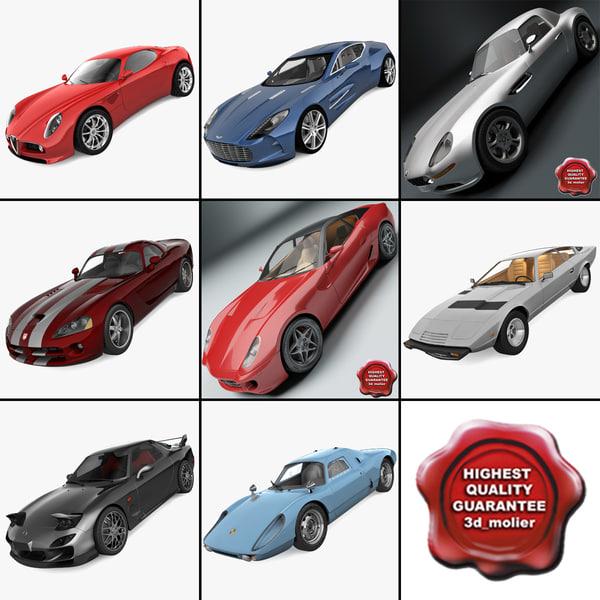 sport cars 8 3d model