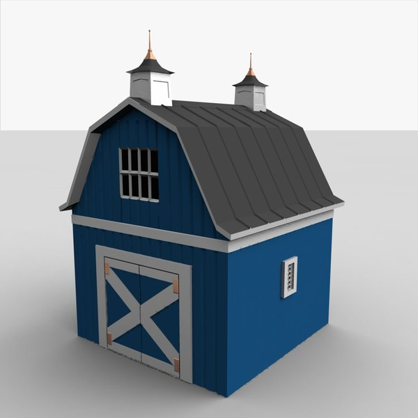 barn shed 3d 3ds