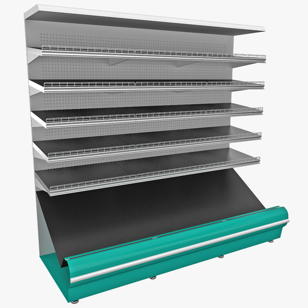 3d model supermarket shelf
