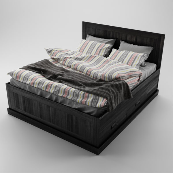 3dsmax fjell bed ikea. Black Bedroom Furniture Sets. Home Design Ideas