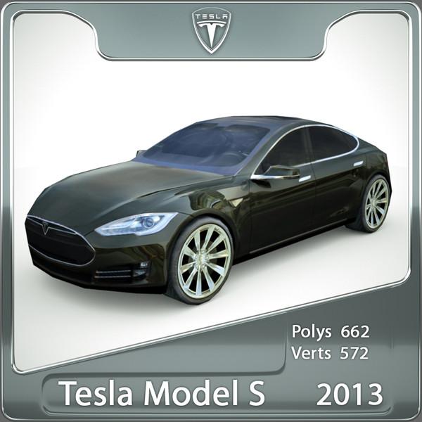 2013 tesla s 3d model