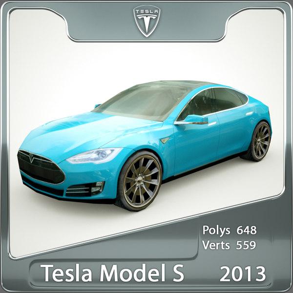 2013 Tesla Model S Blue