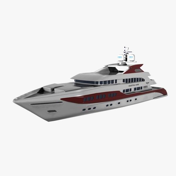 motor yacht 3D models