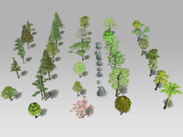 30 tree 3d model