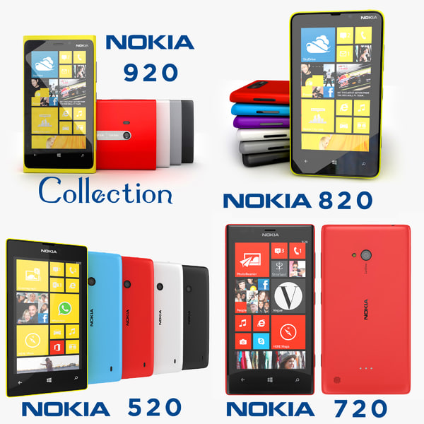 Nokia Lumia 920, 820, 720 and 520 Collection
