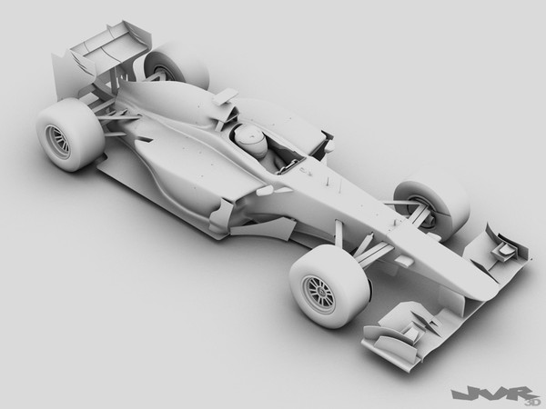 generic f1 race car 3d 3ds - Generic F1 2013 Race Car... by jvr3D