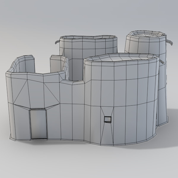3d model of adobe dogon building - Dogon Building 3... by Sirren