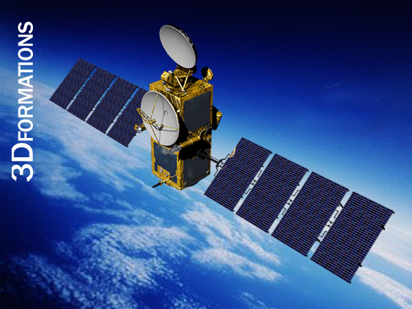space satellite msg 3d 3ds - Satellite MSG... by 3dformations