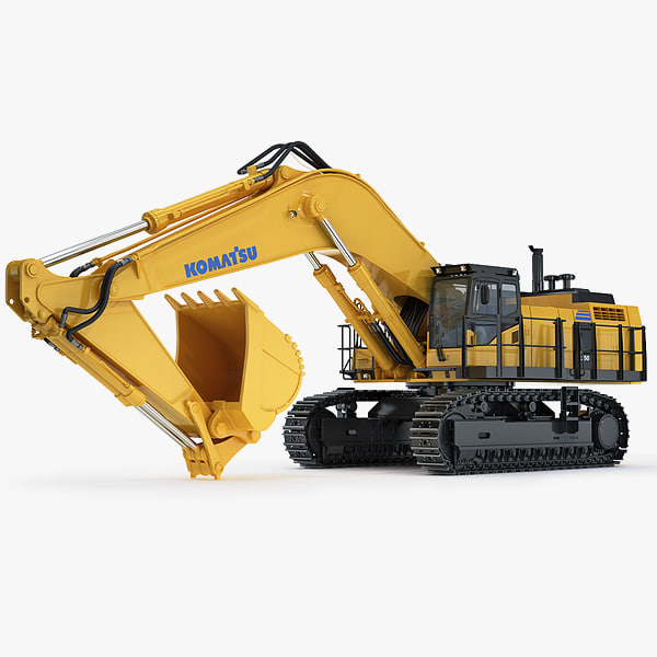 3d model hydraulic excavator komatsu pc1250