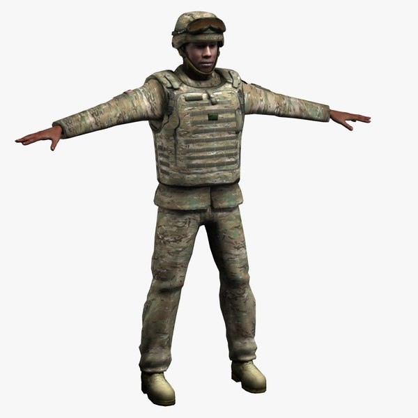 3d army oldier multicam