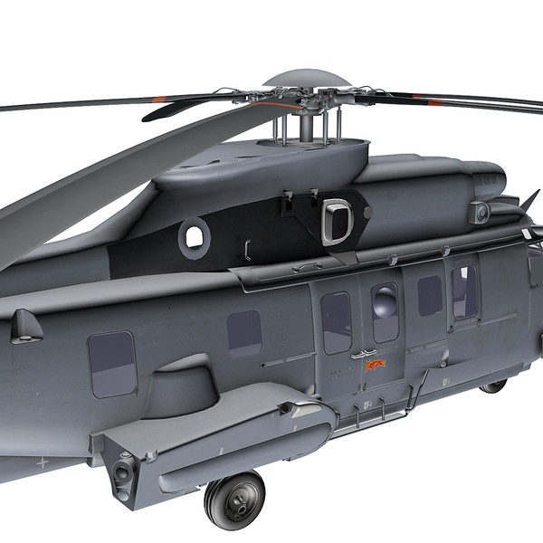 eurocopter as332 super puma 3d model - Eurocopter AS332 Super Puma Helicopter... by GerryStudio