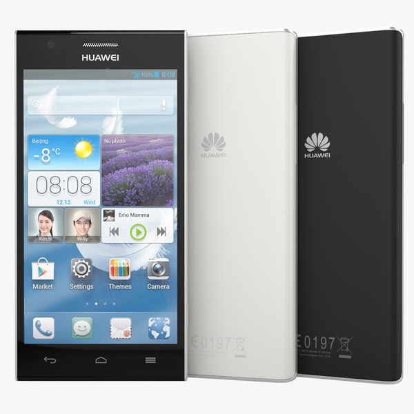 3d huawei ascend p2 black model