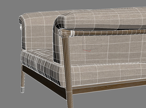 giorgetti - derby sofa chair 3d model - Giorgetti - Derby... by renekorda