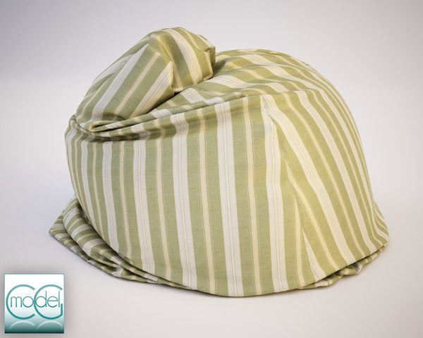 fabrics bean bag chair 3ds
