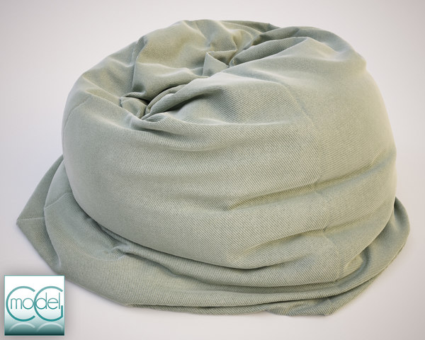 3ds fabrics bean bag chair - bean bag chair 12... by CG MODEL