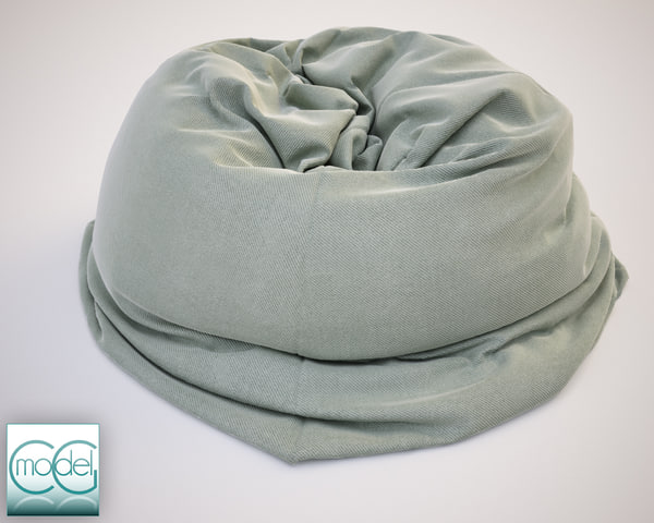 fabrics bean bag chair 3d c4d - bean bag chair 12... by CG MODEL