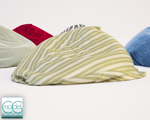 3d fabrics bean bag chair model - bean bag chair 16... by CG MODEL