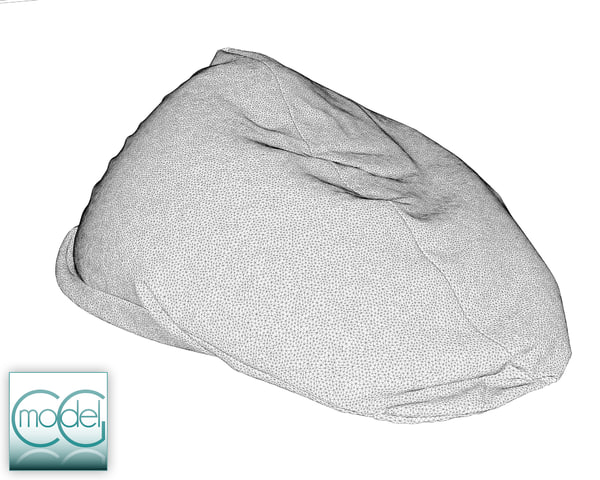 3ds max fabrics bean bag chair - bean bag chair 16... by CG MODEL