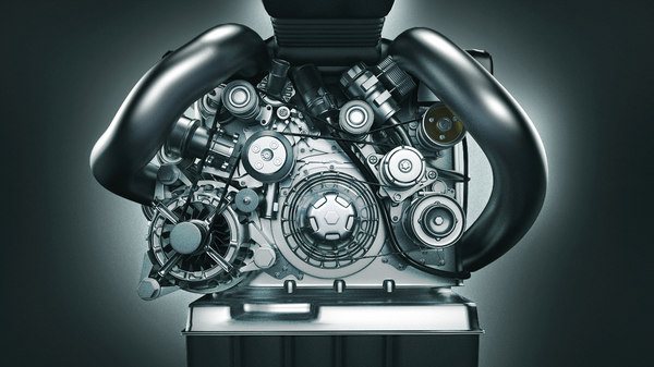car engine 3d max