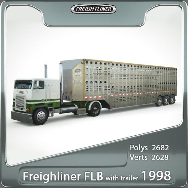 1998 freightliner flb 3d model