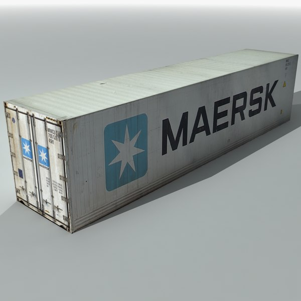 maersk shipping cargo container 3d max