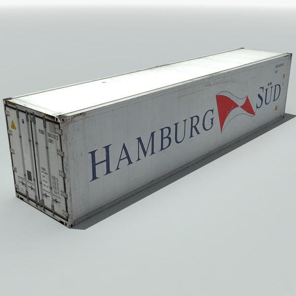 hamburg shipping cargo container 3ds