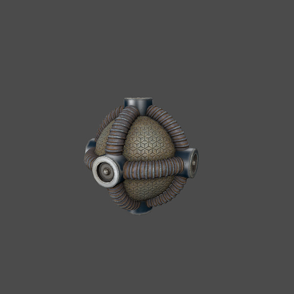 sci-fi bomb 3d model - Collection Sci-Fi Bomb... by bond314bond