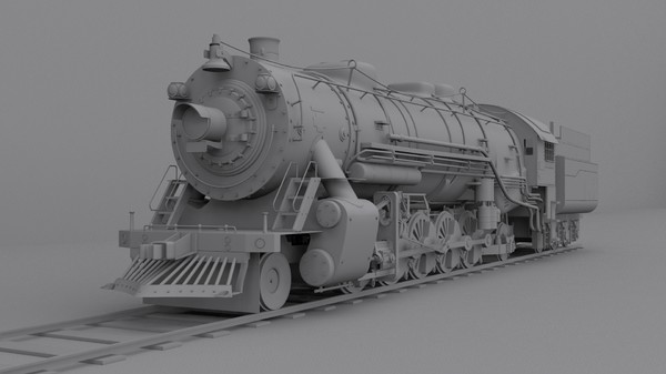 3d model steam locomotive - Steam locomotive... by cyberniee
