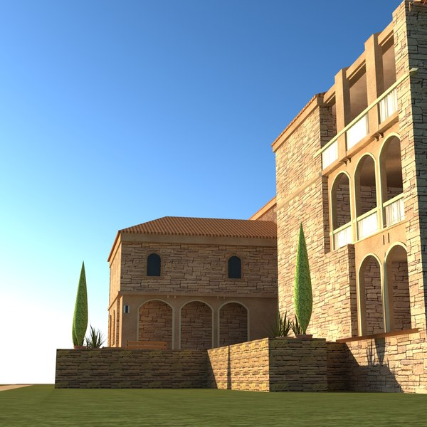 3d model of house architectural building