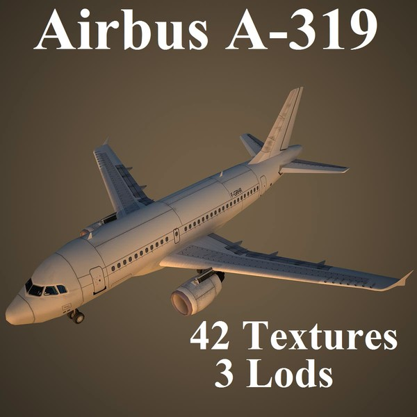 3ds max airbus a-319 airways