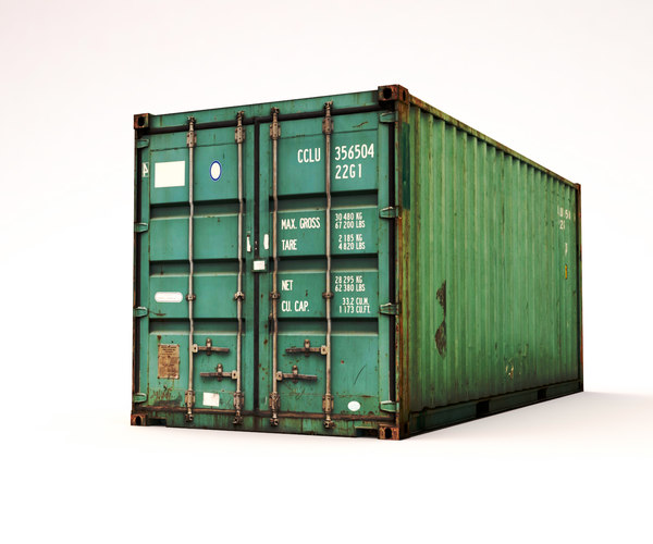 3ds max container 20 ft