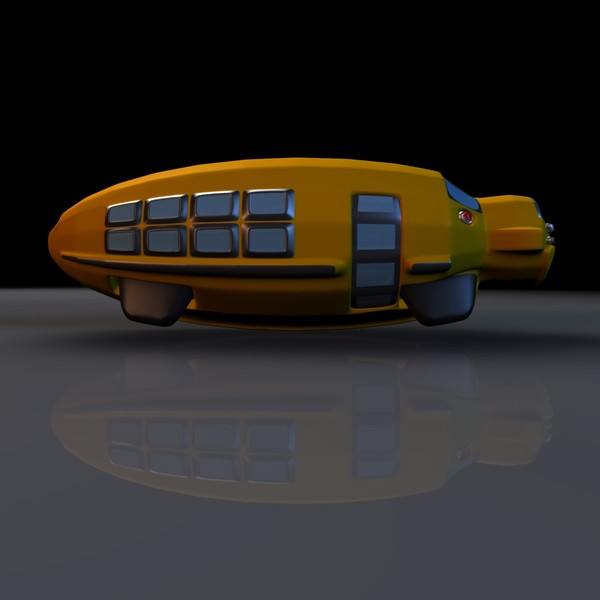 school dirigible submarine 3d model - School Bus Concept Vehicle... by MP Design