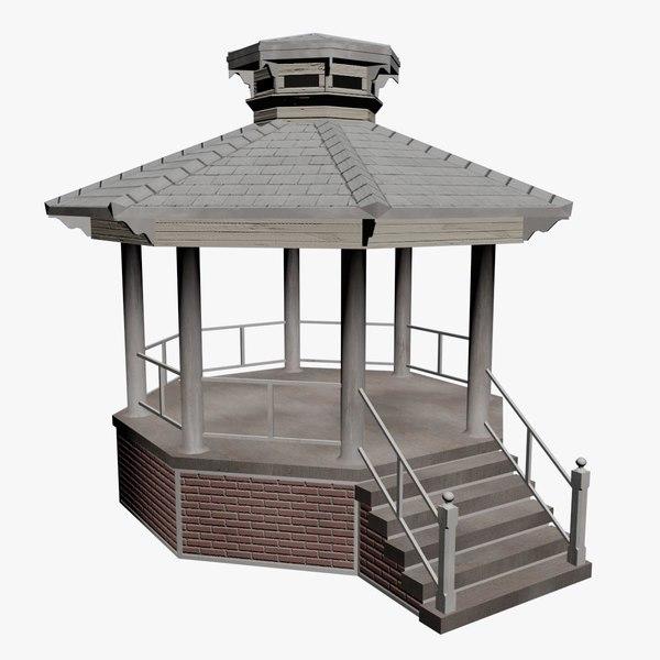 3d model of kiosk parks