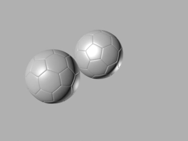 balon fútbol 3d max