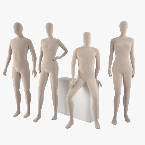 mannequins women 3d max