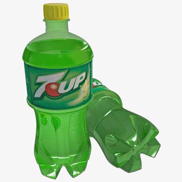 3d model 7 bottle