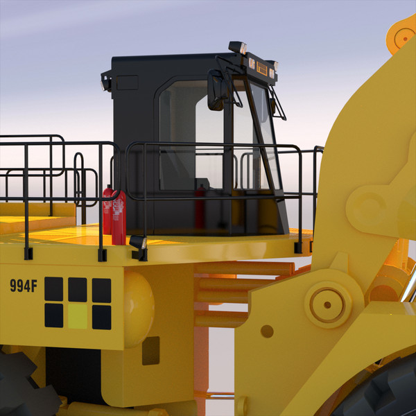 wheel loader 3d obj - Wheel Loader 2012... by ArqArt3D