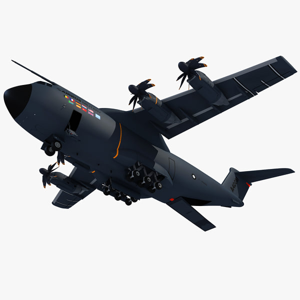 3d airbus a400m atlas model