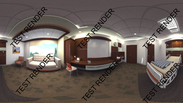 3dsmax 350 patient room design - Patient Room 350 SF... by 3D Medical Equipment