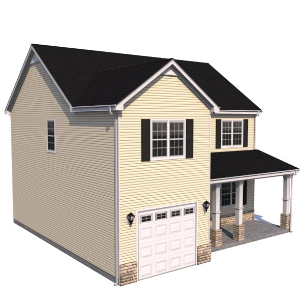 House residential home 3d model 3d house building