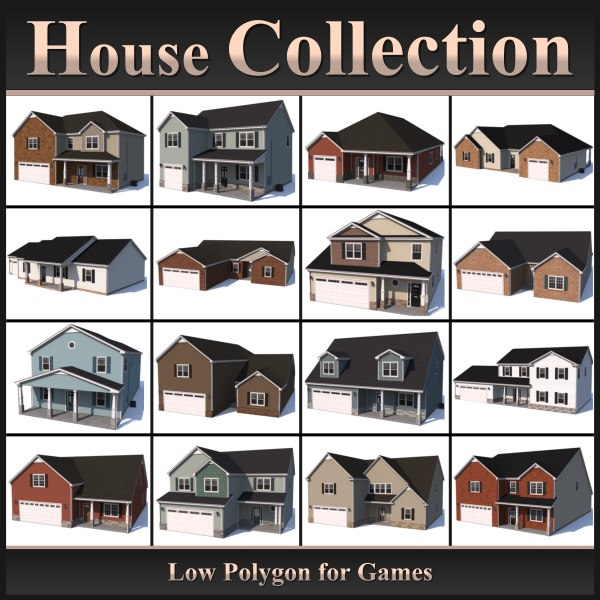 Low Polygon House Collection